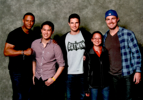 David Ramsey, Robbie Amell and Stephen Amell Stars of ARROW